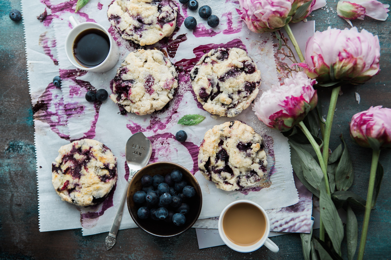 Mixed Berry and Jasmine Tea Scones