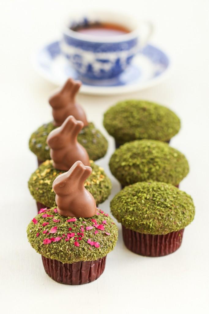 Matcha Tea and Carrot Cake Cupcakes