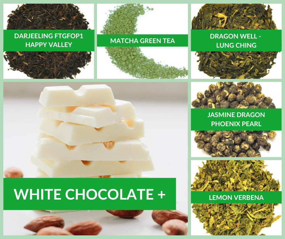 White Chocolate and Tea Pairings