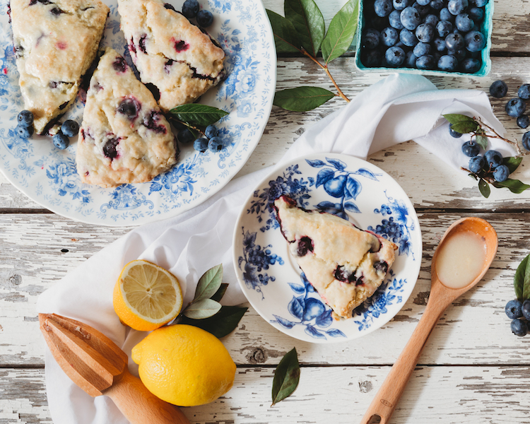 Early Grey Scones with Blueberry