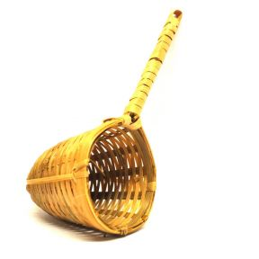 BAMBOO STRAINER WITH 1 HANDLE