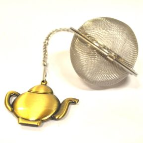 TEA BALL WITH TEA POT