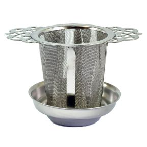 STAINLESS STEEL FILIGREE HANDLED FILTER