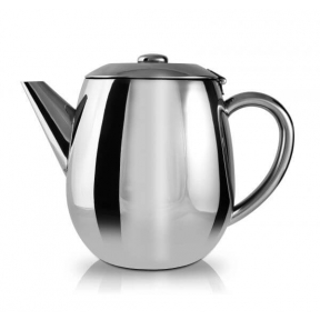 STAINLESS STEEL DOUBLE WALL CURVE TEAPOT