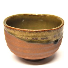 JAPANESE MATCHA BOWL - BROWN & GREEN