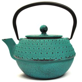 CAST IRON TEAPOT - BLUE