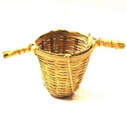 TRADITIONAL TWO-HANDLED BAMBOO TEA STRAINER