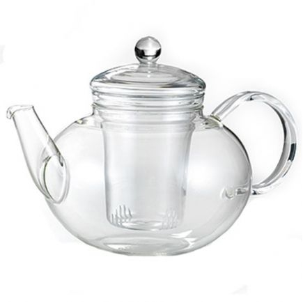 Glass Teapot - Round Pot And Infuser