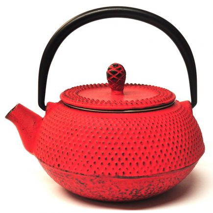 Cast Iron Teapot - Red