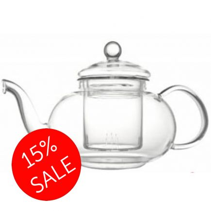 Curvy Glass Teapot With Infuser