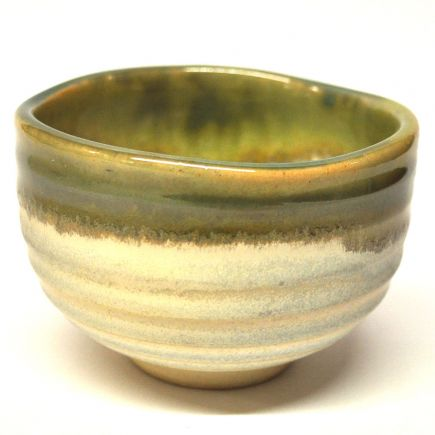 JAPANESE MATCHA BOWL - GREY & GREEN