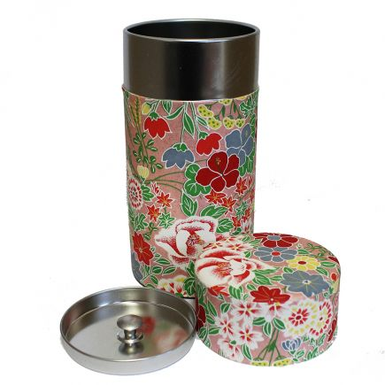 Tea Caddy -  Flower Pink