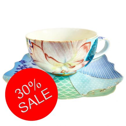 Royal Flowers Cup and Saucer
