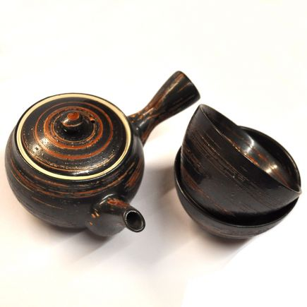 KYUSU TEA SET - DARK BROWN