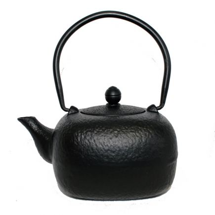 Cast Iron Teapot - Black Mottled
