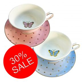 Butterfly Cup and Saucer