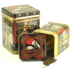"Tea Tin - ""Black Jap"" Design"