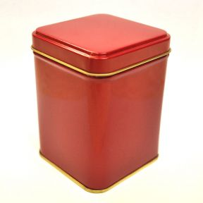 TEA TIN - RED