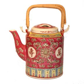Long Life Red Upright Teapot
