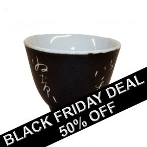 Tea Cup Black - Mini