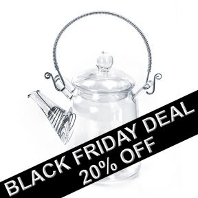 Elegant Glass Teapot With Ornate Handle