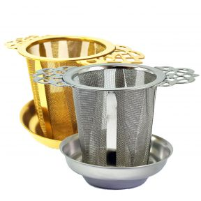Stainless Steel Filigree Handled Tea Infuser