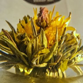 Peach And Marigold Tea Flowers