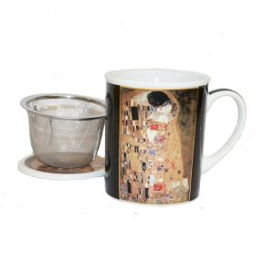 Klimt Kiss Mug With Lid And Infuser