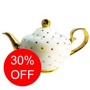 Gold Spotty Teapot