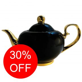 Black & Gold Teapot