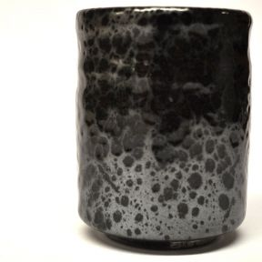 BLACK & SILVER JAPANESE TEA CUP