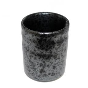 Japanese Style Tea Cup - Black & Silver