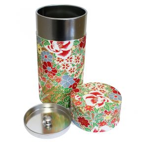 Tea Caddy -  Flower Gold