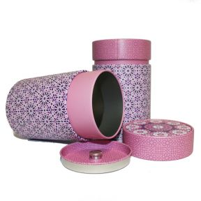 Tea Caddy - Moorish Pink
