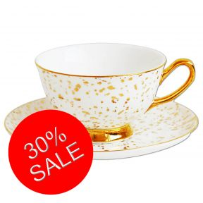 Gold Splatter cup and saucer
