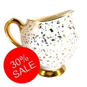 Gold Splatter Milk Jug