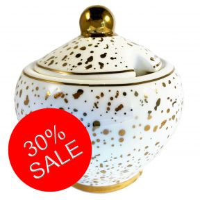Gold Splatter Sugar Bowl