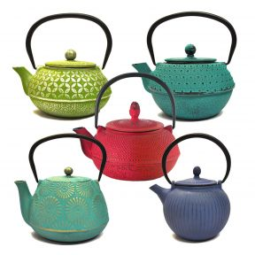 Coloured Cast Iron Teapot