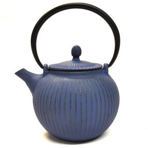 CAST IRON TEAPOT - DARK BLUE