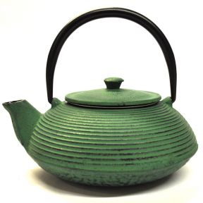 Cast Iron Teapot - Green