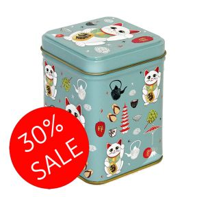 Tea Tin - Maneki Lucky Cat