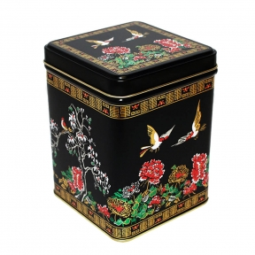 Tea Tin - Birds And Magnolia