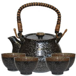 Kosui Japanese Tea Set - Black