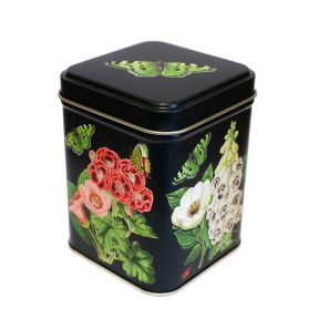 Tea Tin - Flowers and Butterfly