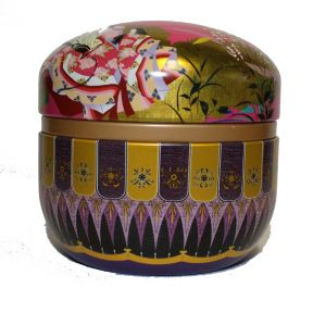 Tea Caddy - Japanese Round Pink