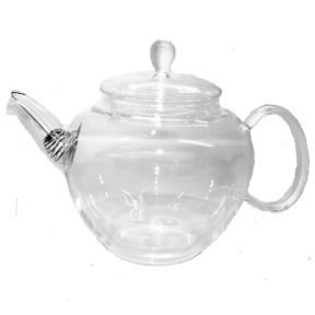 Glass Teapot With Spout Strainer